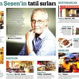 """Hürriyet Gazetesi / Seyahat Eki """"İlhan Şeşen'in Tatil Sırları"""""""