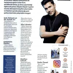 Cosmopolitan Dergisi Mayıs 2018 Caner Kızıl Röportajı