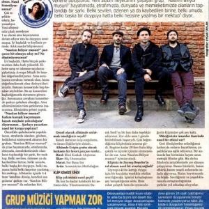 Akşam Gazetesi / Pazar Eki Aysun Yıldız Güngör'ün Gripin Röportajı