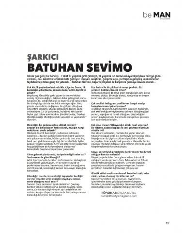beMAN Magazine Mayıs 2018 Batuhan Sevimo Röportajı