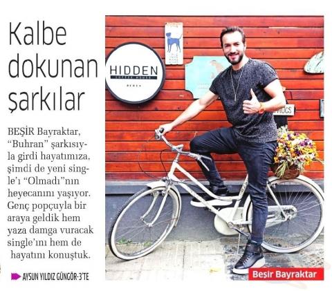 Akşam Gazetesi / Cumartesi Eki Aysun Yıldız Güngör'ün Beşir Bayraktar Röportajı
