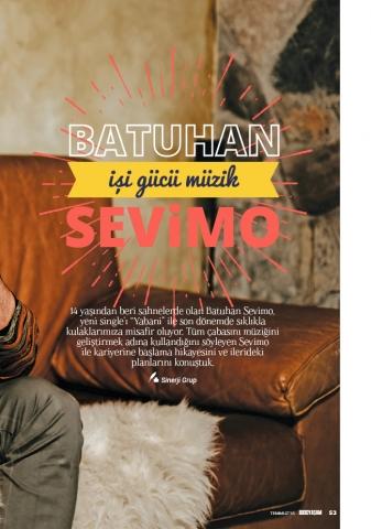 BUDO Yaşam Dergisi Temmuz 2018 Batuhan Sevimo röportajı