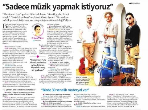 """Milliyet Gazetesi """"yirmi7"""" Röportajı"""