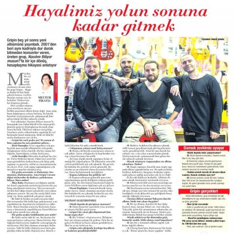 Sabah Gazetesi / Cumartesi Eki Meltem Fıratlı'nın Gripin Röportajı